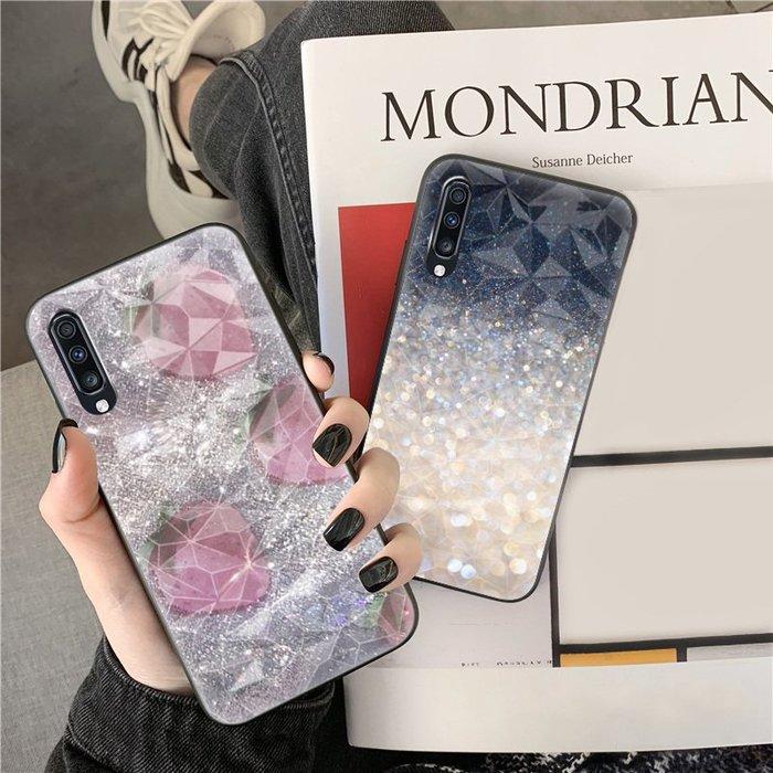 三星A70手機殼s105g版簡約水晶bling菱形殼三星a60保護套A50個性創意男女 01款
