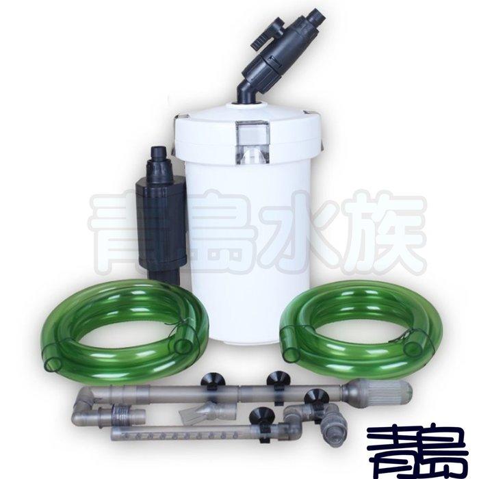 Y。。。青島水族。。。603B中國SUNSUN森森---圓桶過濾桶 器 3L(附濾材+快接*2)動力桶==12/16