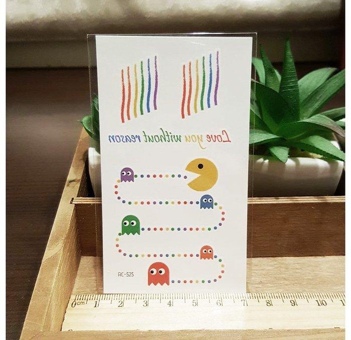【萌古屋】泫雅風彩虹英文 - 兒童Party卡通防水紋身貼紙刺青貼紙RC-525