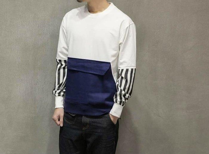 兩色 設計上衣 春夏 口袋衣 男裝  設計時尚 潮流