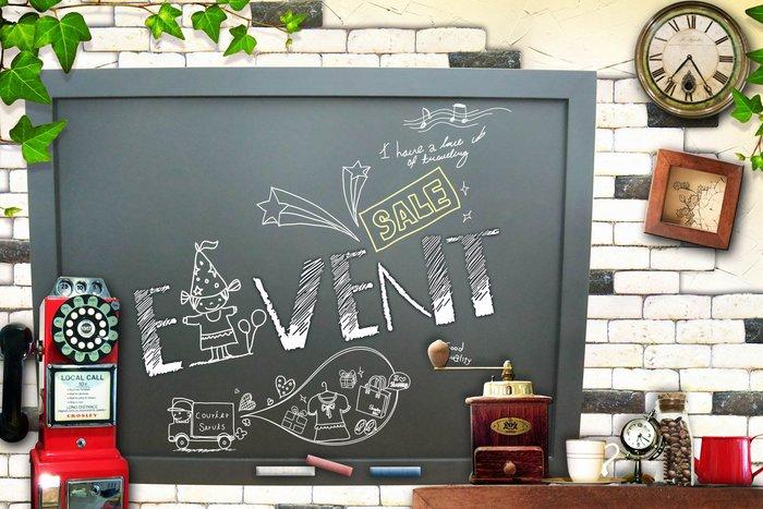 ~廣告舖~  木框黑板(板面黑)(簡約框)(70 x 50cm)