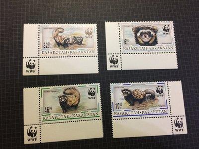 哈薩克 虎鼬郵票(WWF)1997年