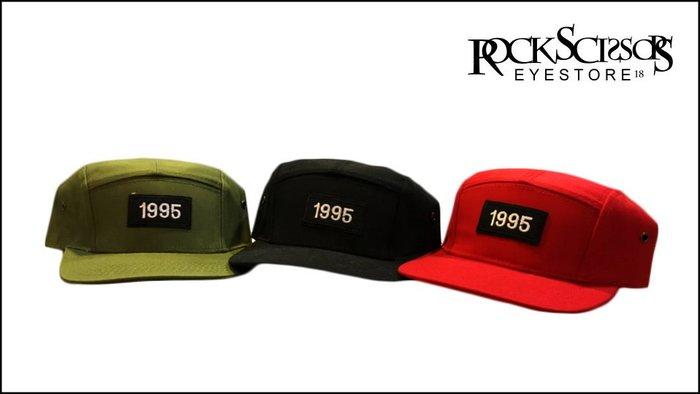 Rock scissors-歐美英倫潮流街頭 復古80's 1995電繡布標 簡約造型五分割棒球帽