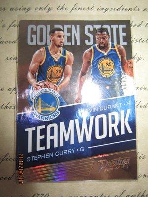 新賣家~16/17~Stephen Curry/ Kevin Durant /25~TEAMWORK~超低限量/25~