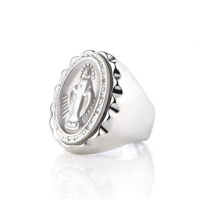 藤原本鋪 SOLO Immaculate Conception Ring 天主教聖母戒 銀色