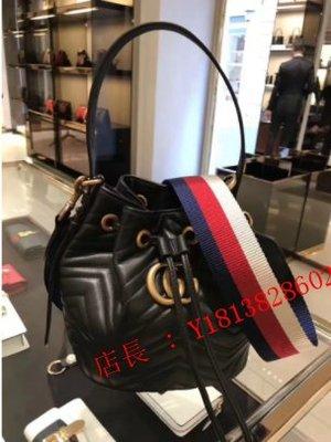 玲玲二手精品GUCCI GG Marmont quilted leather 水桶包 476674 黑色 現貨