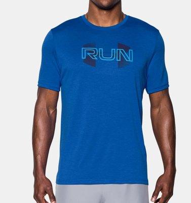Under Armour UA Tech Run Overlap 短袖T恤 吸濕排汗 M(約一般L) 全新 現貨