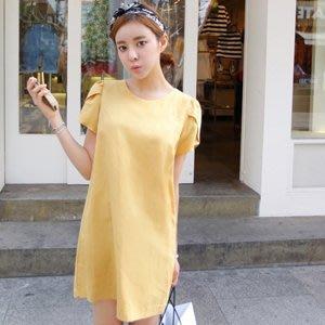 轉賣全新 正韓Cherrykoko 黃色棉質洋裝 one size