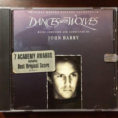 *愛樂熊貓*1990正美盤(內圈凸字無ifpi)與狼共舞DANCES WITH WOLVES約翰貝瑞JOHN BARRY