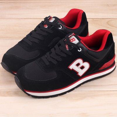 Ovan 男款 牛頭牌 Newbuffalo 牛反毛皮綁帶MIT製造多國專利 慢跑鞋 走路鞋 運動鞋 黑紅色