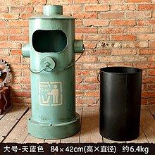 複古鐵藝消防栓垃圾桶創意大號腳踏式店鋪餐廳創意擺件房間裝飾品(三色可選)