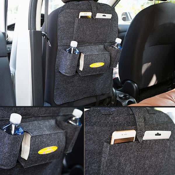 置物袋 汽車椅背置物袋 旅行 出遊 車用收納 汽車用品 置物架 飲料架 衛生紙架 車座椅收納袋 【ZCR014】SORT