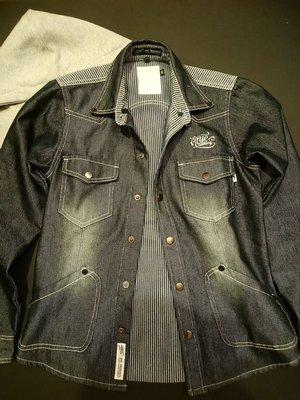 大降價!DYC潮牌 多工細節設計 牛仔連帽外套 襯衫