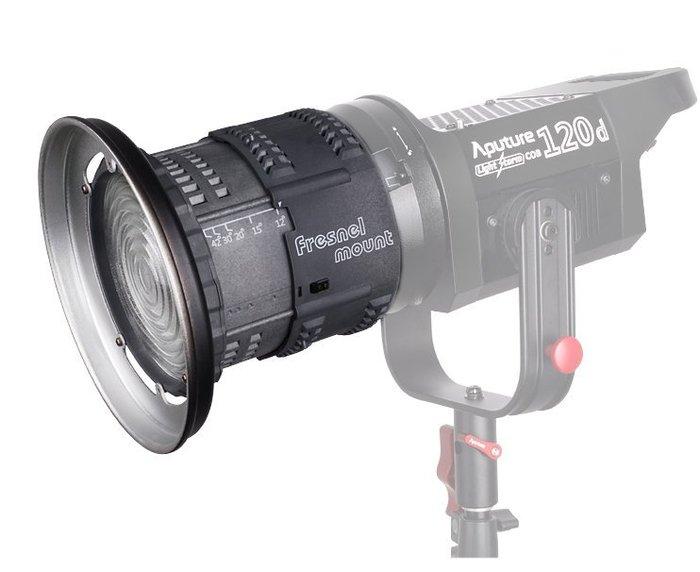 呈現攝影-Aputure Fresnel Zoom 可變焦聚光筒 12°~42度 BOWENS保榮卡口 蜂巢 佛式 聚光