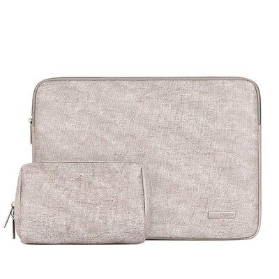 手拿包皮革電腦包-簡約灰色加絨休閒男女包包73vy35[獨家進口][米蘭精品]