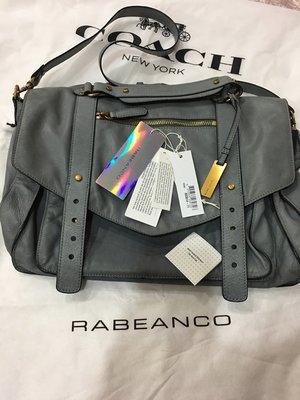 RABEANCO 牛皮 學院風 肩背包 側背包 郵差包