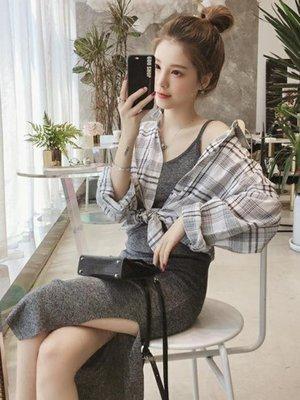 小清新套裝裙女新款秋裝洋裝韓版甜美俏皮時尚兩件套