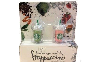 香港 2012 星巴克 Frappuccino 抹茶+草莓 星冰樂限量版 手機防塵塞(3.5mm口徑)