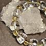 T0213-3天然白水晶+黃水晶手珠