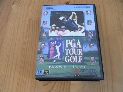 【小蕙生活館】MD日版卡帶 ~ PGA TOUR GOLF2 職業高爾夫球賽2 (盒裝)
