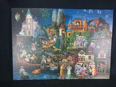 *阿柱的店* 兩片 約1600 片 拼圖 童話 尋找威力  畫