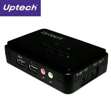 【電子超商】UPMOST 登昌恆 KVM210UA 2-Port USB電腦切換器 支援MAC/NB/PC連接