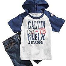 【安琪拉 美國童裝】CK Calvin Klein 套裝組- 藍色連帽T恤上衣+牛仔褲, 另有Carter's / Gymboree