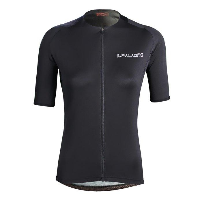 水鑽系列【ILPALADINO】競技型女士短袖車衣 :: 黑色