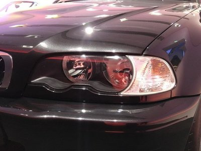 《※台灣之光※》全新BMW寶馬 E46 2D 2門 CI 98 99 00 01年高品質原廠型黑框大燈 彰化縣