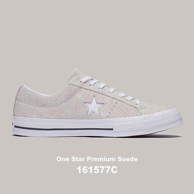 【QUEST】CONVERSE ONE STAR 低筒 經典款 基本款 麂皮 男女鞋 白色 161577C