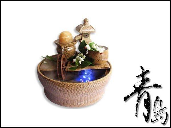 BM。。。青島水族。。。A-007開運流水&陶藝流水&滾滾流水&開店送禮==石燈(黃)(配6cm貓眼球)免運費.