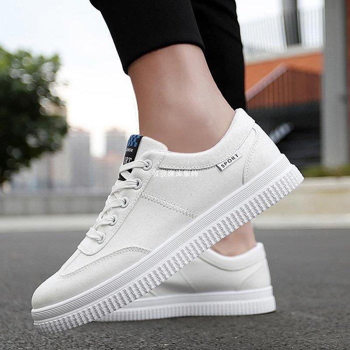 發發潮流服飾2019夏季白色板鞋10透氣運動休閒帆布鞋12大童13小白15歲學生男鞋