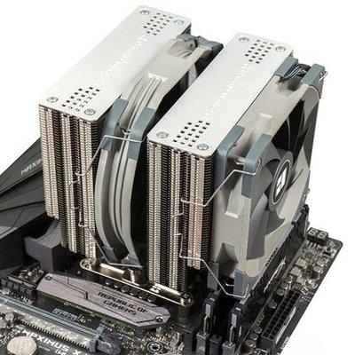 散熱器利民霜靈FS140雙塔熱管i5 i7 AM4靜音cpu風扇利民 PA120CPU散熱器