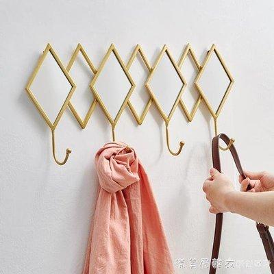 創意鑰匙掛鉤玄關牆壁掛架收納衣帽鉤架進門試衣間掛衣鉤服裝店