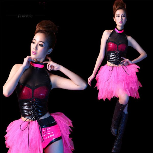 5Cgo【鴿樓】會員有優惠 40470268356 性感舞台裝領舞ds演出服裝爵士舞鋼管舞舞蹈套裝 PUB 現代舞衣