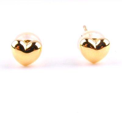 【JHT 金宏總珠寶/GIA鑽石專賣】愛心型耳環/材質:750(JB47-B03)