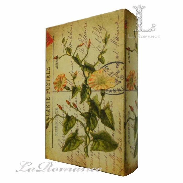 【芮洛蔓 La Romance】英式牽牛花造型書盒 (大) / 置物盒 / 收納 / 擺飾