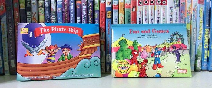 *【~兒童英語繪本】*小pen外文童書~~ 2本立體小繪本!