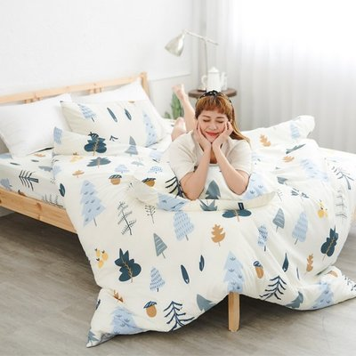 [SN]#U117#舒柔超細纖維3.5x6.2尺單人床包+枕套+雙人被套三件組台灣製/天絲絨