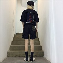 韓版夏季原宿百搭bf迷彩寬松顯瘦五分褲學生 休閑短褲潮