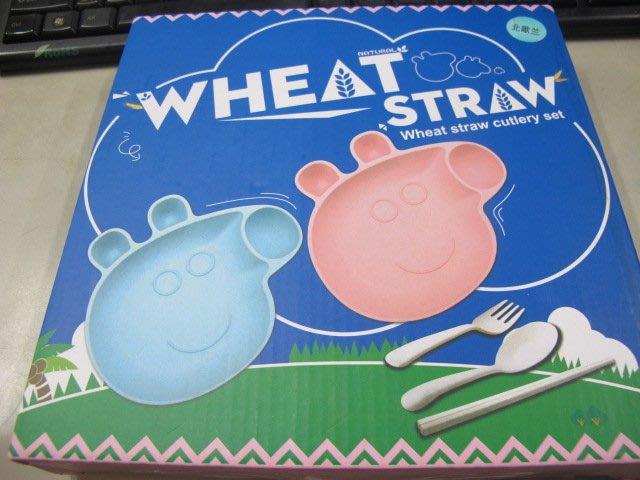 二手舖 NO.2528 Wheat Straw 環保便攜小麥餐具組 佩佩豬 小豬佩琪造型
