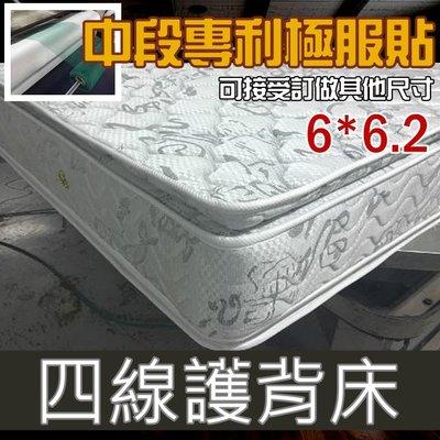 【海西歐】【針織刺繡4線雙護背獨立筒+防蹣抗菌高級布料】床墊!!!!!