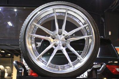 【成佳汽車】正ADV.1 20吋 鍛造輕量化前後配鋁圈含胎 圈胎極新 For Audi R8 Lamborghini