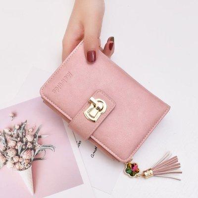 奔蕾錢包女短款2020新款時尚學生韓版可愛零錢包寶石流蘇小ck錢包HLDD