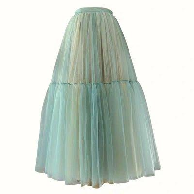 韓風春夏拼色拼接大擺紗裙訂做 Tulle skirt 外拍 寫真 婚紗 cosplay Luxe boutique