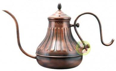 【JPGO日本購 】日本製 Kalita 細口銅製咖啡手沖壺 宮廷壺~浮雕款#045