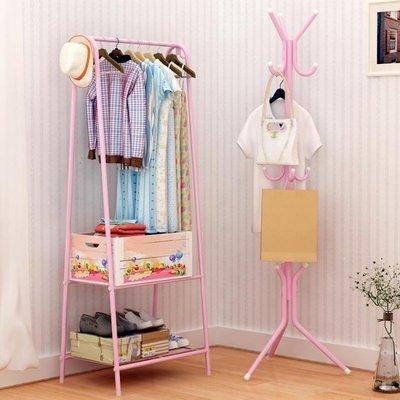 ZIHOPE 簡易掛衣架落地衣帽架臥室衣服架子家用單桿式現代ZI812