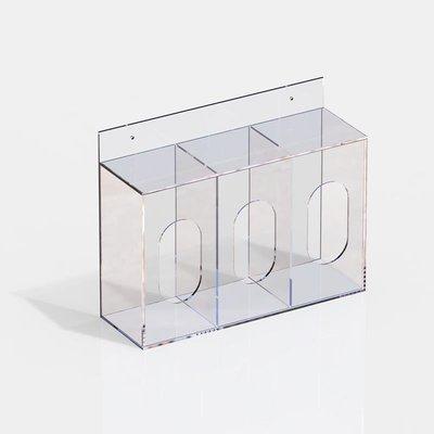 {台灣好物}口罩收納盒防塵家用亞克力透明收納袋一次性乳膠手套帽子收納神器