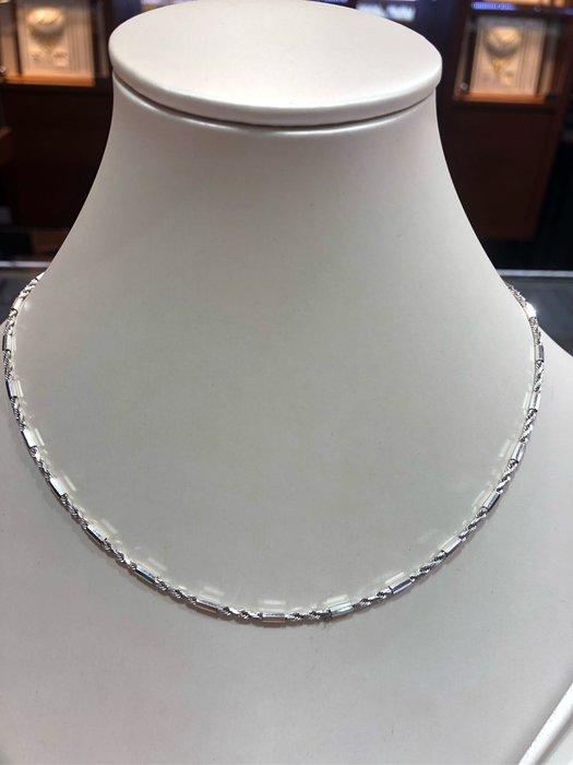 義大利585 14K金項鍊,白K金項鍊,顏色漂亮閃亮質感超棒,超值優惠價13800,單戴就很亮眼