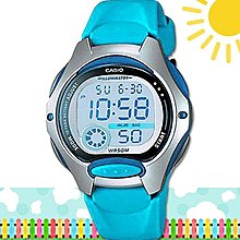 CASIO 時計屋 卡西歐手錶 LW-200-2B 數字兒童錶 防水50米 LW-200